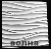 Гипсовые 3D панели,  декоративный гипсовый кирпич