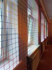 Сетка оградительная (разделительная) на окна в спортзал