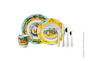 Яркий набор детской посуды Villeroy & Boch коллекция Chewy's Treasure