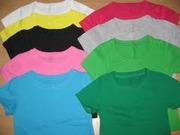 футболки детские однотонные трикотаж
