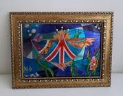 Витражная картина Рыба Британика