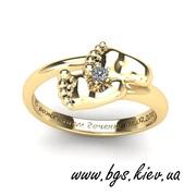 Золотое кольцо Ножки малыша,  кольцо пяточки младенца ❤