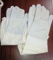 Перчатки из натур. кожи с нарукавниками