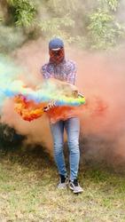 Дымовая шашка MA0511,  Цветной дым