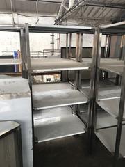 Продам новый промышленный стеллаж из нержавеющей стали на  4 полки