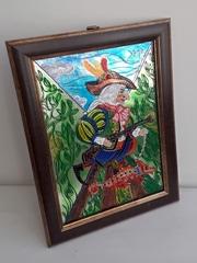 Витражная картина На охоте с хамелеоном