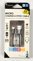 Micro USB кабель фирмы Travelocity (код 0010)