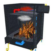 Печь с камерой дожига вторичных газов