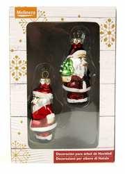 Ёлочная игрушка Дед мороз 2 шт. Универсальная,  красный-разноцветный