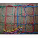 Сетка заградительная капроновая ячейка 100х100 цветная для спортзала