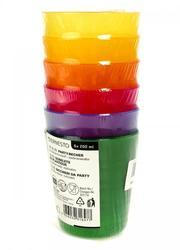 Набор пластиковых стаканов (6 шт.),  разноцветный