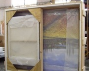 Коробки с обрешетками для пересылки картин