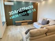 #установка и покраска гипсовых 3Д пано Монтаж 3D панелей #(063)1210213