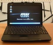 Нетбук MSI U100 (в отличном состоянии).