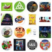 Фликстикеры: стерео варио 3D стикер,  наклейка,  этикетка
