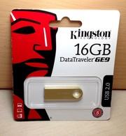 Флешка Kingston DataTraveler GE9 USB-накопитель DTGE9 16GB gold metal