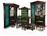 Бильярд. Бильярдная мебель, барная стойка, стулья, столики, киевницы