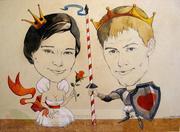 Портретный шарж,  сюжетный шарж,  корпоративный шарж,  свадебный шарж,  ша