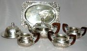 Английский чайный мельхиоровый набор - достойный подарок маме
